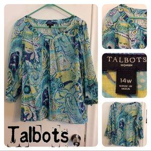 Talbots 14W Blouse